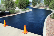 Asphalt Sealcoat Driveway - Precision Striping & Sealcoating - call (908) 362-5414 - New Jersey